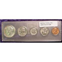 1965 U.S. Year Set. Five pieces.