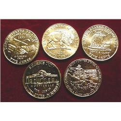 (5) Piece Set 24K Gold-plated Commemor