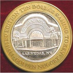 Golden Nugget .999 Fine Silver $10 Gaming