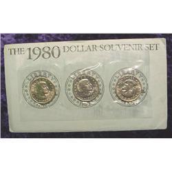 1980 P, D, & S Susan B. Anthony Dollar