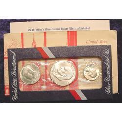 1976 S Silver Three Piece Bicentennial