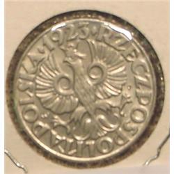 1923 Poland 50 Groszy. AU.