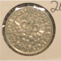 1923 Poland 20 Groszy. AU.