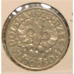 1923 Poland 50 Groszy. EF