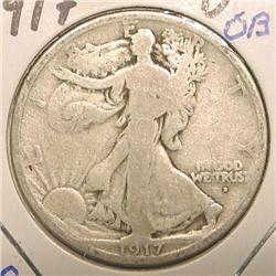 1917 Obv. D Walking Liberty Half Dollar