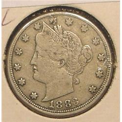 1883 NC Liberty Nickel. VF 20.