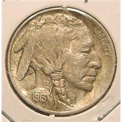 1913 P Type One Buffalo Nickel. AU.