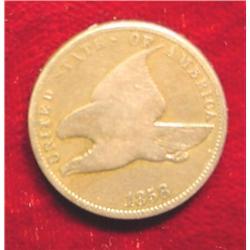 1858 SL Flying Eagle Cent. G-4.