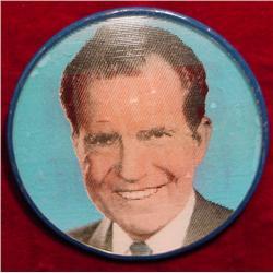 Nixons the One Hologram Pinback