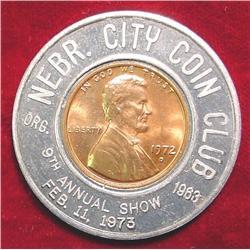 1973 Nebraska City Coin Club Encased