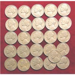Jefferson Nickel Hoard: 1940D, S, (2) 46P,