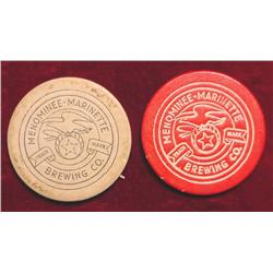 (2) Poker Chips Menominee-Marinette
