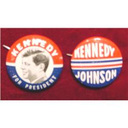 (2) Different Kennedy Campaign Pinbacks