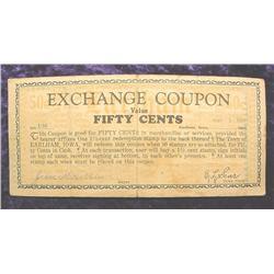 1933 Depression Scrip .50c Earlham, Iowa