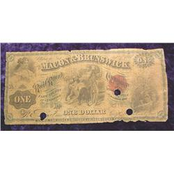 Feb. 1st, 1867 Macon & Brunswick $1