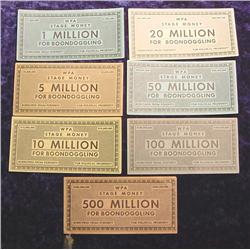 1930 WPA Stage Money Set Anti FDR