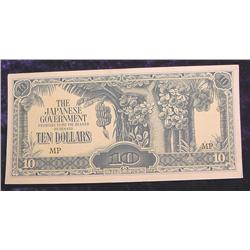 $10 The Japanese Government Occupation