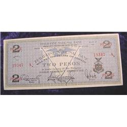 Series 1941 Philippines National Bank $2