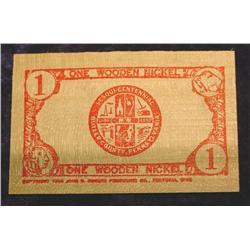 1950 Butler Co., Penn. Wooden Nickel