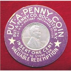 Put-A-Penny Coin Encased Steel Cent
