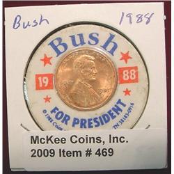 """1988 """"Bush for President"""" Encased 1988D"""