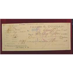 1889 James S. Duncan Chino Arizona Terr