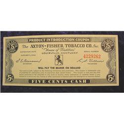 1944 Axton-Fisher Tobacco Co. .5c Scrip
