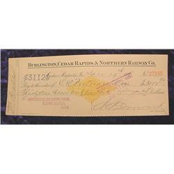 1898 Merchant's National Bank C.R., Ia.