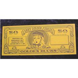 1956 Gary Golden Jubilee Scrip 50 Bucks