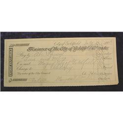 1913 $5 Check City of Goldfield, Colorado