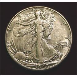 1942 D Walking Liberty Half Dollar. EF