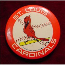 """St. Louis Cardinals Pinback. 1 1/2"""""""