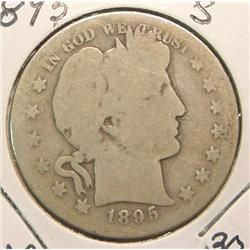 1895 S Barber Half Dollar. G/AG.