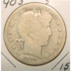 1903 S Barber Half Dollar. G-4.