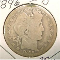 1896 O Barber Half Dollar. G/AG.