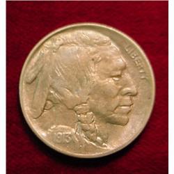 1913 P Type One Buffalo Nickel. Toned BU