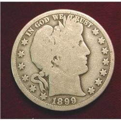 1899 O Barber Half Dollar. G/AG.