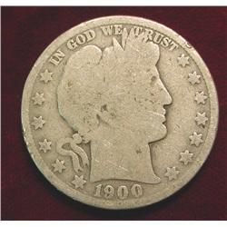 1900 O Barber Half Dollar. G/AG.