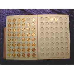 Partial Set 1959-80 Lincoln Cent Set. BU