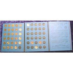 Partial Set 1975-86 Lincoln Cent Set in blue