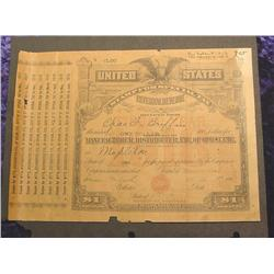1917 era U.S. Internal Revenue Tax Bond