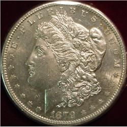 1879 S Morgan Silver Dollar. Brilliant Unc