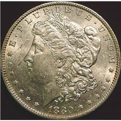 1880 O Morgan Silver Dollar. AU