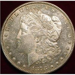 1878 S 7tf Morgan Silver Dollar. Prooflike