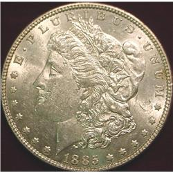 1885 P Morgan Silver Dollar. Unc.
