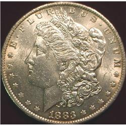 1883 O Morgan Silver Dollar. Brilliant Unc.