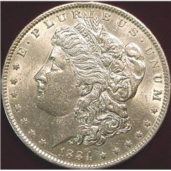 1884 O Morgan Silver Dollar. AU