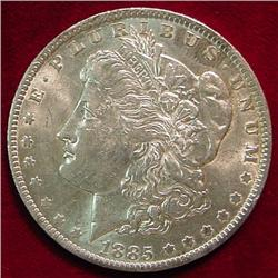 1885 O Morgan Silver Dollar. AU
