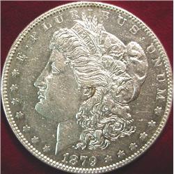 1879 P Morgan Silver Dollar. Prooflike.