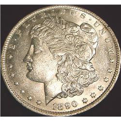 1890 O Morgan Silver Dollar. AU.